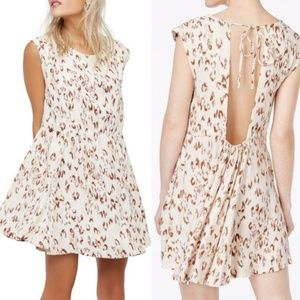 Free People Fake Love Ikat Print Open Back Dress S